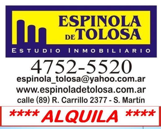 ESPINOLA DE TOLOSA, Alquiler de Cochera en Saenz Peña   Tres De Febrero