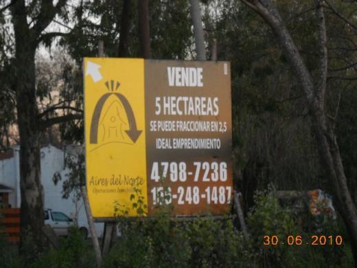 Aires del Norte Operaciones Inmobiliarias. Patricia M. Saco Matric. 5495 S.I., Venta de Campo en Benavidez   Tigre