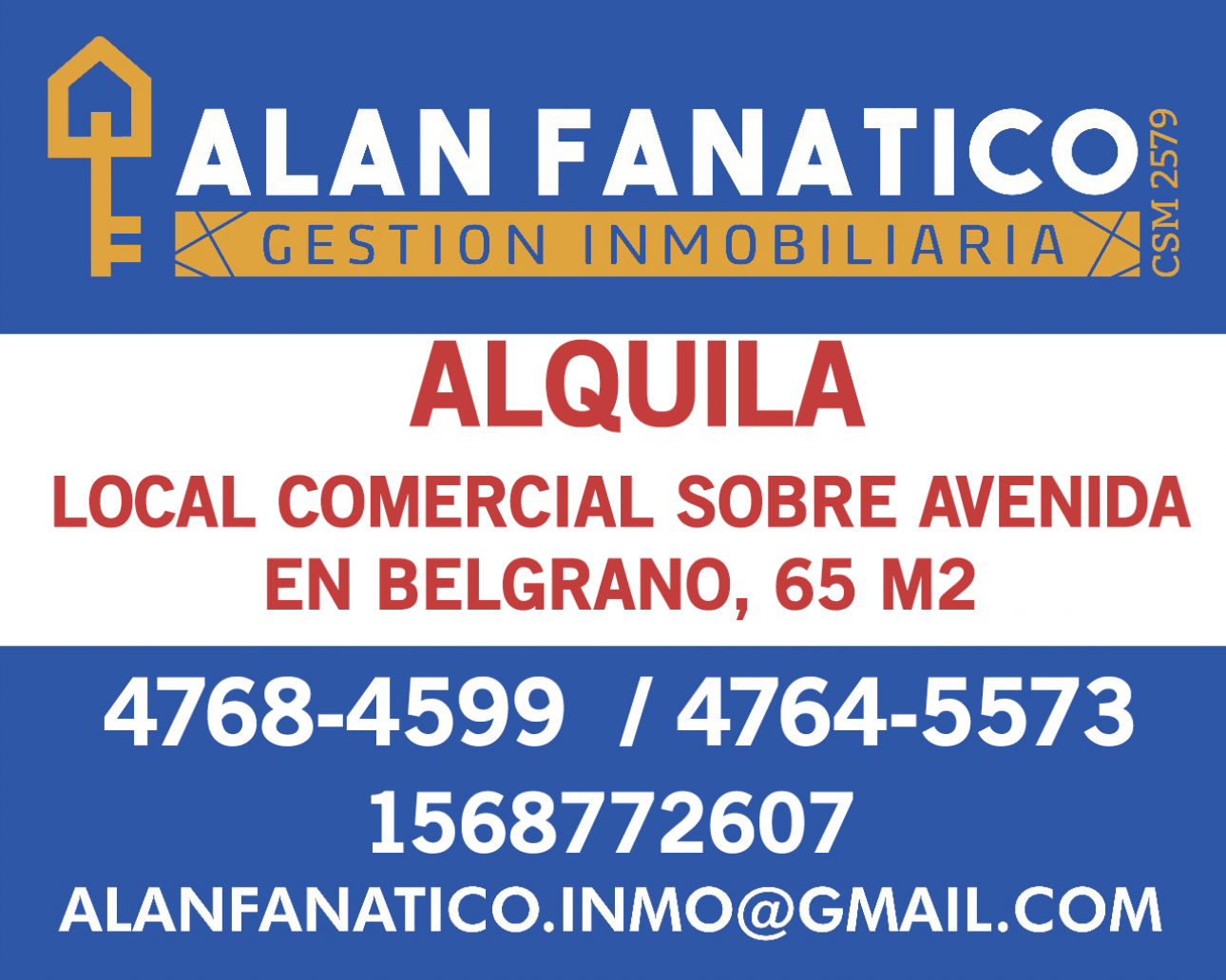 Alquiler de Local 60 a 100 mts. en Belgrano