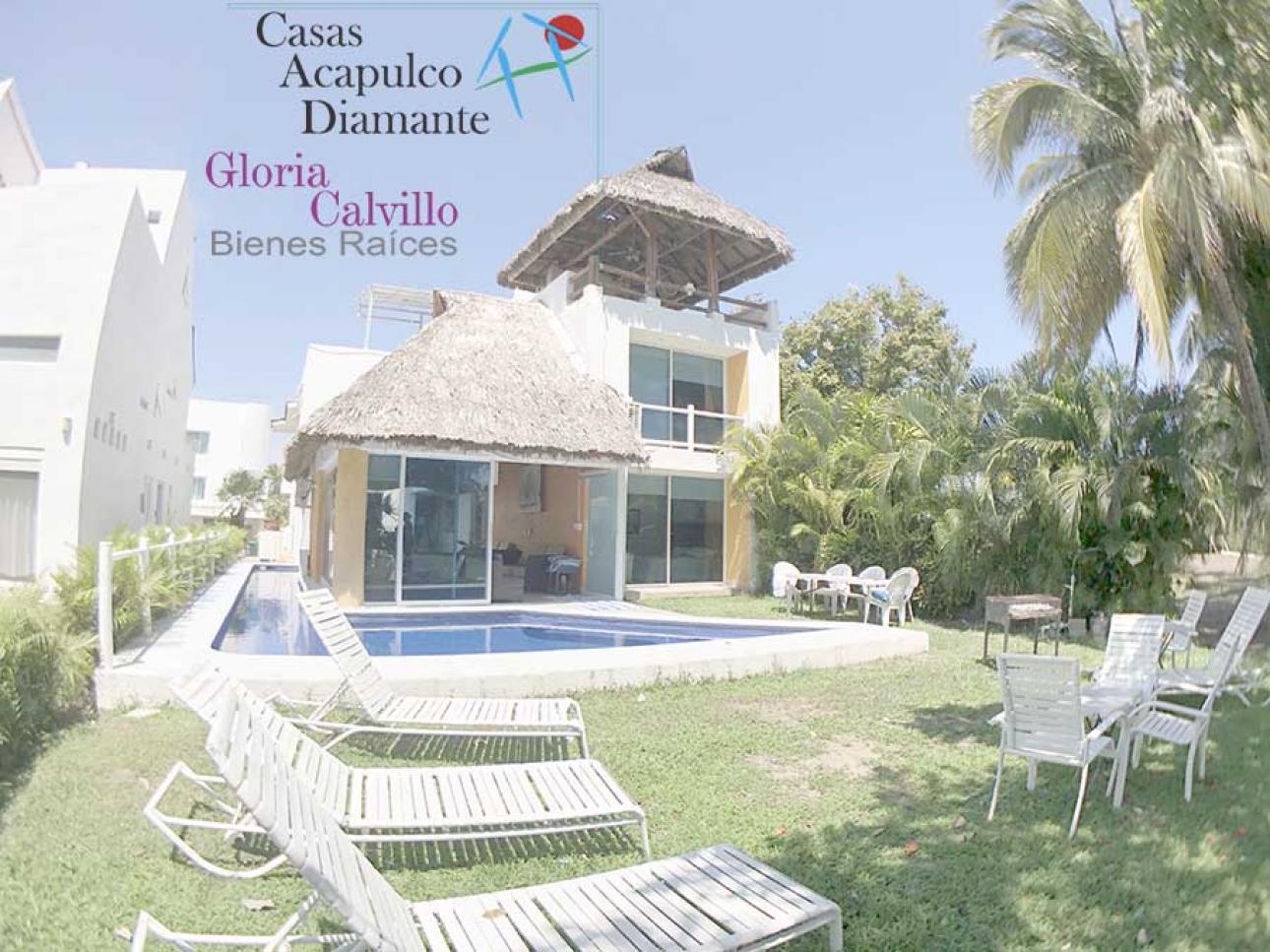 Venta de Casa 4 o mas recamaras en Acapulco Fraccionamiento Playa Diamante