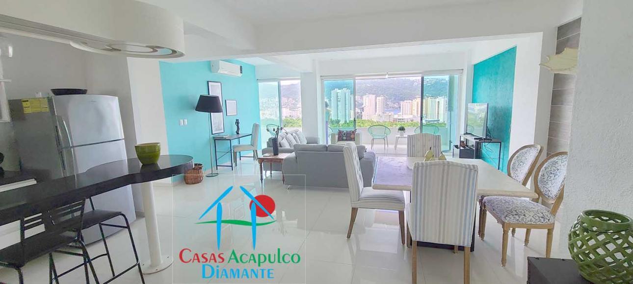 Alquiler de Departamento en Fraccionamiento Club Deportivo   Acapulco