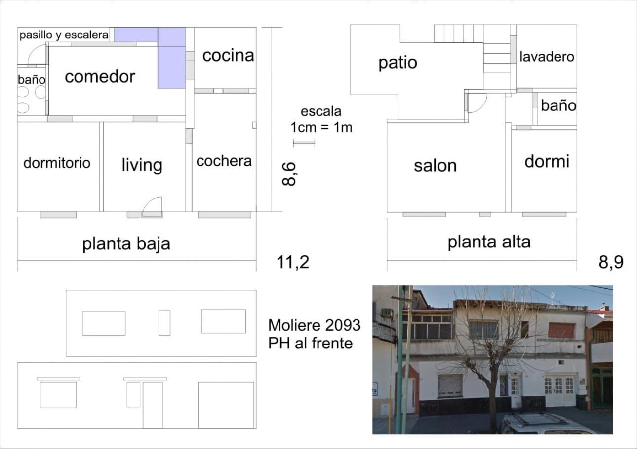Venta de Casa 4 ambientes en Villa Real