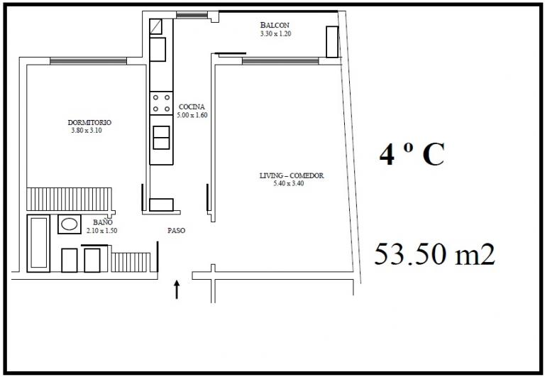 Venta de Departamento 2 ambientes en