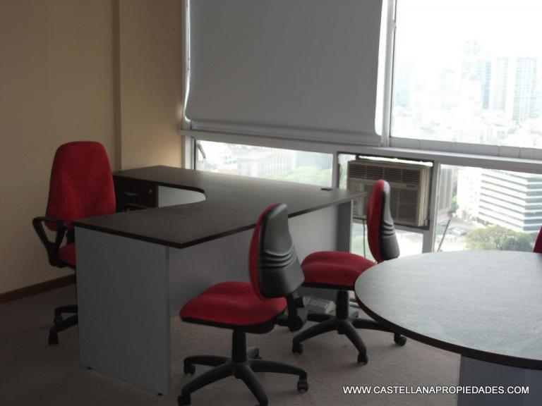 Excelente Oficina AMOBLADA 30m² Alquiler  PLAZA SAN MARTIN